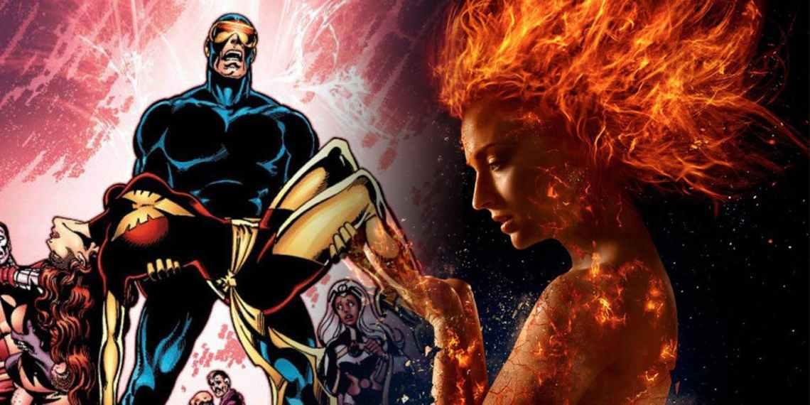 X-Men-Dark-Phoenix-Comic-Cover-and-Sophie-Turner-as-Jean-Grey